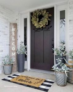 What a gorgeous front porch styled by – we are loving our Magnoli… - rustic farmhouse front door Farmhouse Design, Farmhouse Decor, Farmhouse Style, Modern Farmhouse, Country Decor, Country Style, Rustic Decor, Antique Farmhouse, Industrial Farmhouse