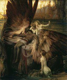 Herber Draper (1864 - 1920) - The Lament for Icarus (1898). English Classicist painter. .