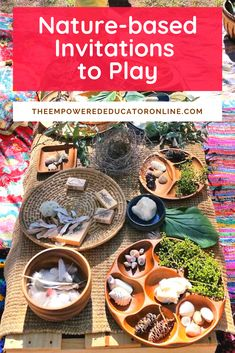nature based invitations to play and provocations Forest School Activities, Nature Activities, Learning Activities, Preschool Activities, Indoor Activities, Therapy Activities, Summer Activities, Family Activities, Play Based Learning