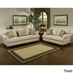 Furniture of America Prosper Sofa and Loveseat Furniture Set   Overstock.com Shopping - The Best Deals on Sofas & Loveseats