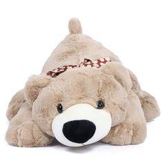 It is a great choice to buy thesoft plush lying bear, made of 100% green materials, for your kids as an amazing birthday gift. #JoyFay #JoyFayBear #StuffedAnimals #BirthdayBear