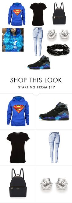 """AQUA 8s"" by shaniamelville-1 on Polyvore featuring Jordan Brand, Vince and Henri Bendel"