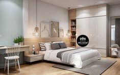 Mẫu thiết kế nội thất phòng ngủ ngày nay được thiết kế rất đa dạng và phong phú, từ kiểu cách bài trí cho đến cách sắp xếp đồ đạc. Sau đây NEOhouse chia sẻ một số mẫu phòng ngủ được KTS công ty thiết kế để bạn tham khảo và lấy ý tưởng riêng cho phòng ngủ của mình. Bedroom Closet Design, Bedroom Furniture Design, Bedroom Loft, Home Decor Bedroom, Apartment Interior, Apartment Design, Room Interior, Interior Design Living Room, Modern Luxury Bedroom