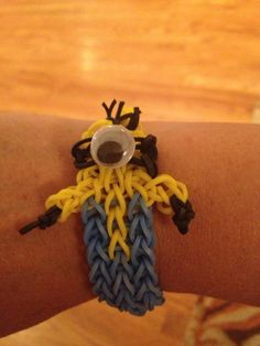 Makena's Rainbow Loom minion!