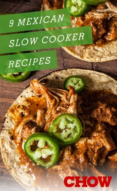 Cinco de Mayo food & drink recipes | 9 Mexican Recipes Perfect for the Slow Cooker  @tsmeraglio