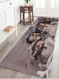 ace653997f5c7 home decor Snowmen Print Indoor Outdoor Area Rug