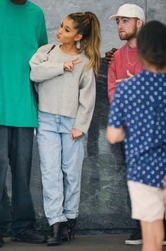 Ariana Grande e Mac Miller alla 'Sirius XM Studios' New York City, prima di oggi. 20 settembre.