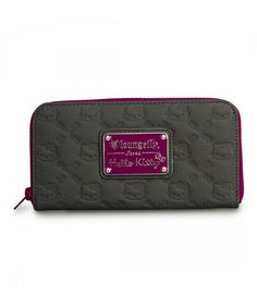 Look at this #zulilyfind! Gray & Purple Hello Kitty Embossed Wallet by Loungefly #zulilyfinds