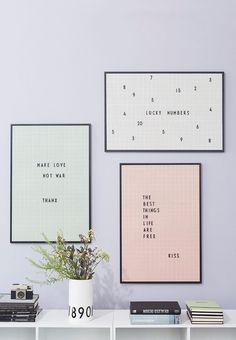 Billige Farverige Message boards fra Design Letters | Copenhagen Wilderness