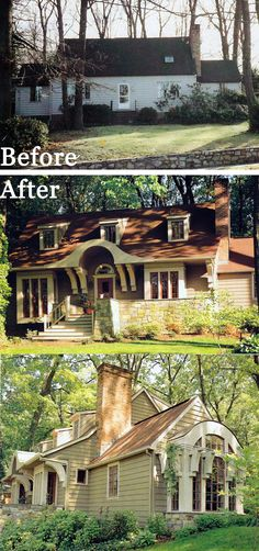 Amazing renovation!! It's amazing how much character architectural details can give to an ordinary facade! :)