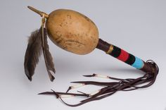 This photo shows a Native american shaman rattle which was used for ritualistic healing purposes. The Shaman was closer to todays medical doctor, and psychiatrist. This was one of many healing tools used by Native Americans.