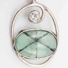 Smaragd Diamant Anhänger