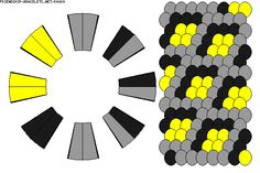 K4869 - friendship-bracelets.net  -  Strings: 16 Colors: 3