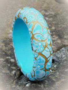 Mokume Gane Bangle_Blue and Gold | Chrissie | Flickr