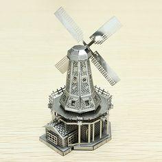 Netherlands Windmill Miniature 3D Steel Puzzle Model DIY