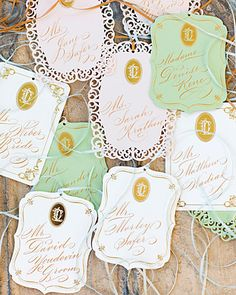 cut tags into different shapes and use varying cutout designs!