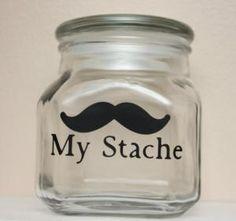My Stache Jar. Cute Concept