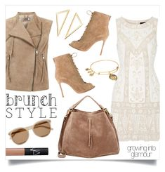 """""""Sunday brunch"""" by anchilly23 ❤ liked on Polyvore featuring Needle & Thread, Mint Velvet, Maison Margiela, Gianvito Rossi, Yves Saint Laurent, Alex and Ani and NARS Cosmetics"""