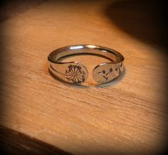 Dandelion ring, Dandelion jewelry, Sterling silver dandelion ring, dandelion twist ring, unique dandelion ring, handmade ring