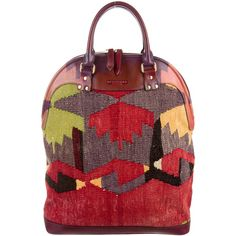 Pre-owned Burberry Prorsum Tapestry Bloomsbury Bag ($1,295) ❤ liked on Polyvore featuring bags, handbags, red, burberry handbags, burberry, tapestry purse, preowned handbags and colorful purses