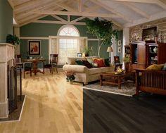 Light and dark hardwood floors - maple
