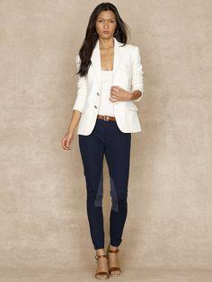 Fleece Blazer With Crest - Jackets  Women - RalphLauren.com