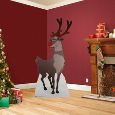 Reindeer Stand Out – Non-adhesive | Holiday Decor