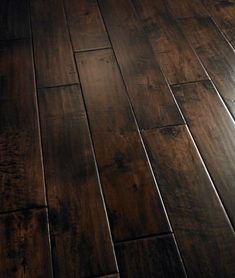 If I DO decide to tear up the carpet in the hallway and leave the hardwood then I do believe I would like it this dark ;)  Wood Floor Ideas - CLICK THE PIC for Lots of Wood Flooring Ideas. #floor #laminate