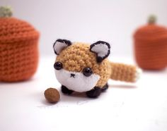 amigurumi fox cute crochet animal plushie by mohustore on Etsy