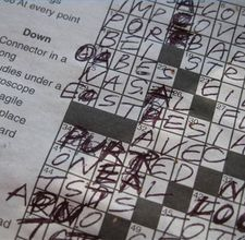 Finish a Crossword Puzzle without cheating.