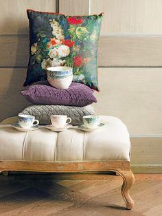 Home Sweet Home... Tea Time, Ottoman, Sweet Home, Romance, Throw Pillows, Chair, Bed, Furniture, Home Decor