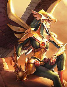 Kendra Saunders Hawkgirl in Infinite Crisis