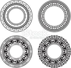 Ornate Circles Royalty Free Stock Vector Art Illustration