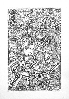 Christmas Tree Zentangle | Flickr - Photo Sharing!
