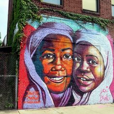 Street art | Mural (Welling Court Mural Project, Astoria, Queens, New York, USA) by Danielle Mastrion and Lexi Bella