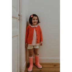 Lililotte - Cardigan tangerine Victoire