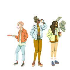 I'm so heart-eyes emoji over Jeff Ostberg's illustrations t b h