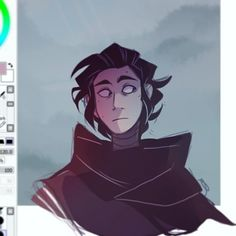 "5,805 Likes, 37 Comments - @curdledmilkk on Instagram: ""I wanted to draw Hux but Kylo happened ¯\_(ツ)_/¯ ☆ #kyloren #sketch #doodle #digitalart"""