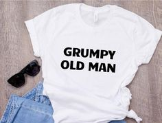 GRUMPY GRANDAD T Shirt available in Black or Pink Novelty