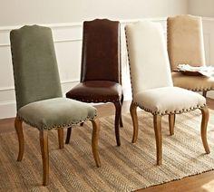 Calais Chair | Pottery Barn-Like the creme linen look.