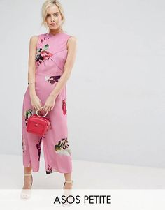 d7340d3793b9 ASOS PETITE Jumpsuit in Large Rose Floral Print Day To Night Dresses,  Dresses For Work