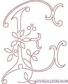 Readers embroidery cleverly combining styles color pinterest monogram patterns for hand embroidery letters e spiritdancerdesigns Images