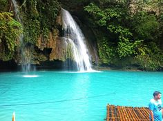 Water this blue and beautiful is all anyone could wish for! And that's exactly what you get at the #KawasanFalls in Cebu in the Philippines - with differe entrances and waterfalls, you would never be bored!