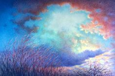 susan sarback cloud paintings | Go Back > Gallery For > Colored Pencil Clouds