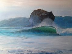 Witch's Rock, an 8 x10 acrylic I painted today...while in the States trying to get over pneumonia....I miss the ocean and surfing so much....