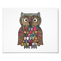 Patchwork #Owl Photographic #Print
