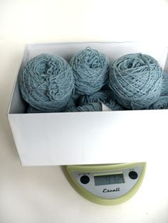 "How to calculate yardage of yarn from the weight.  ""If you aren't lucky enough to have a label, you have some options"" !!"