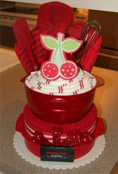 Como fazer um bolo de utensílios para o chá de panela