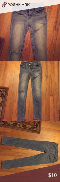 Selling this American Eagle Super Stretch Jeggings in my Poshmark closet! My username is: catcas123. #shopmycloset #poshmark #fashion #shopping #style #forsale #American Eagle Outfitters #Denim