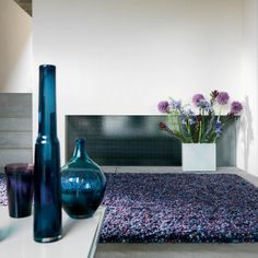 Tashen Plum Purple – shaggy – Choose a rug type – Shaggy Rugs Living Room Living Room White, Rugs In Living Room, Plum Purple, Deep Purple, Purple Rooms, Rugs Online, Creative Home, Spring Colors, Interior Design Living Room